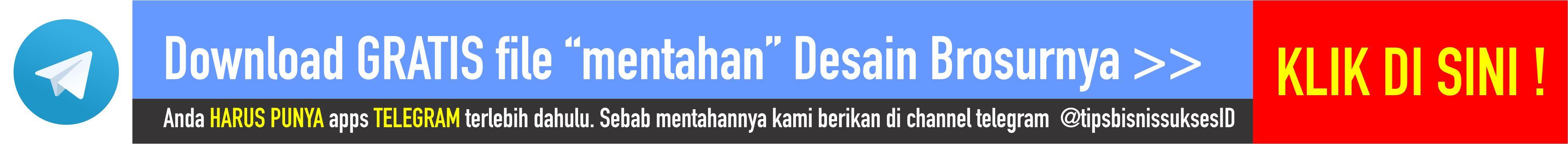 Download Gratis Desain Brosur Creative Store 24