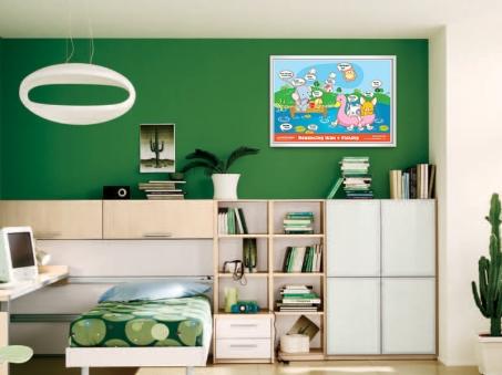 mock up desain Poster Belajar 12