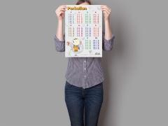 mock up desain Poster Belajar 6