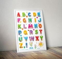 mock up desain Poster Belajar 9