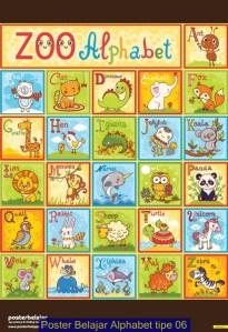 Poster Belajar Alphabet tipe 06
