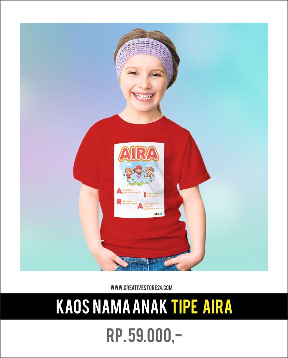 Situs Penyedia Jasa Desain: Aira Jual Kaos Nama Anak SC Kids