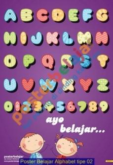 Poster Belajar Alphabet tipe 02