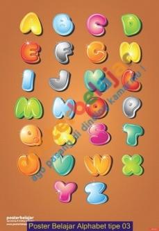 Poster Belajar Alphabet tipe 03