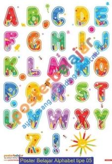 Poster Belajar Alphabet tipe 05