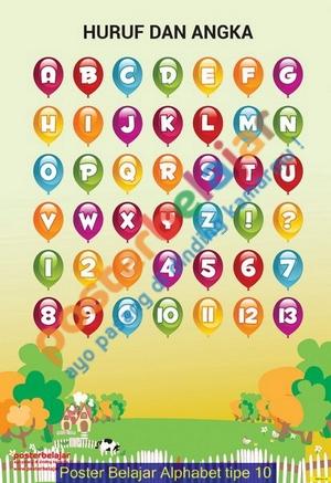 Poster Belajar Alphabet tipe 10
