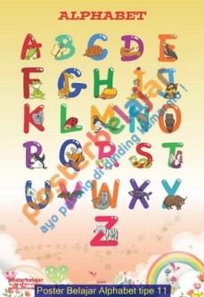 Poster Belajar Alphabet tipe 11