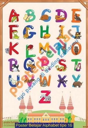 Poster Belajar Alphabet tipe 16