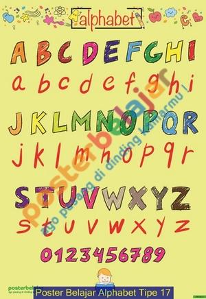 Poster Belajar Alphabet Tipe 17