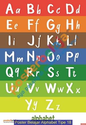 Poster Belajar Alphabet Tipe 18