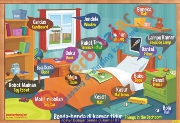 Poster Belajar benda di kamar 01
