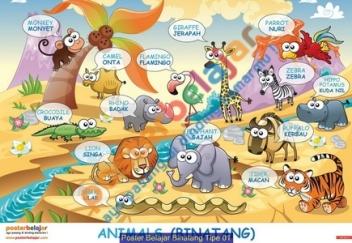 Poster Belajar Binatang Tipe 01