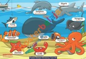 Poster Belajar Binatang Tipe 04