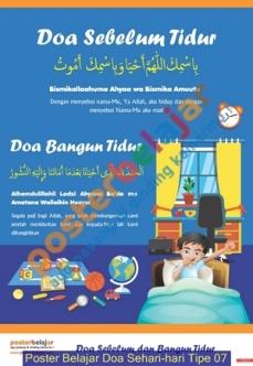 Poster Belajar Doa Sehari-hari Tipe 07