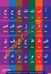 Poster Belajar Huruf Hijaiyah tipe 01
