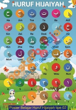 Poster Belajar Huruf Hijaiyah tipe 02