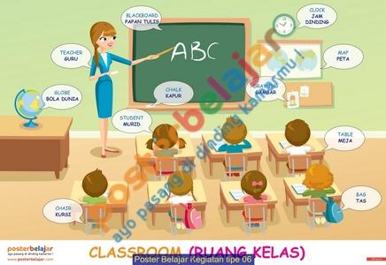 Poster Belajar Kegiatan tipe 06