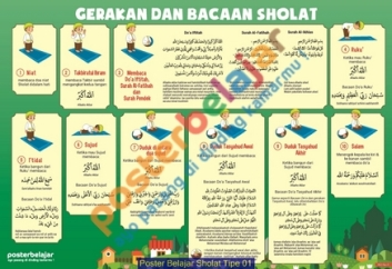 Poster Belajar Sholat Tipe 01