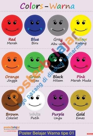 Poster Belajar Warna tipe 01