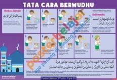Poster Belajar Wudhu Tipe 05