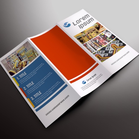 Desain Online download gratis inspirasi contoh design brosur company profile profil Brosur PDB 01