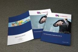 untuk download gratis inspirasi contoh desain design brosur company profile profil 14