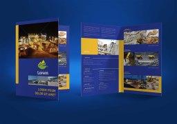 untuk download gratis inspirasi contoh desain design brosur company profile profil 15