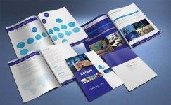untuk download gratis inspirasi contoh desain design brosur company profile profil 16