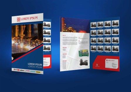 untuk download gratis inspirasi contoh desain design brosur company profile profil 18
