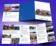 untuk download gratis inspirasi contoh desain design brosur company profile profil 6