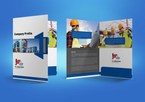 untuk download gratis inspirasi contoh desain design brosur company profile profil 7